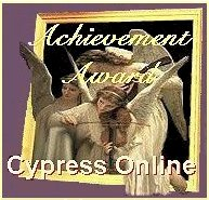 Cypress Online Achievement Award - 11:11:97